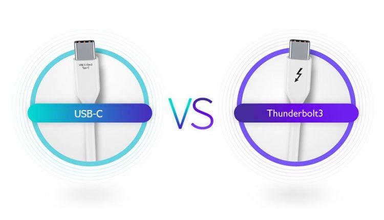 تفاوت میان Thunderbolt 3 و     USB-C 3.1 در چیست؟