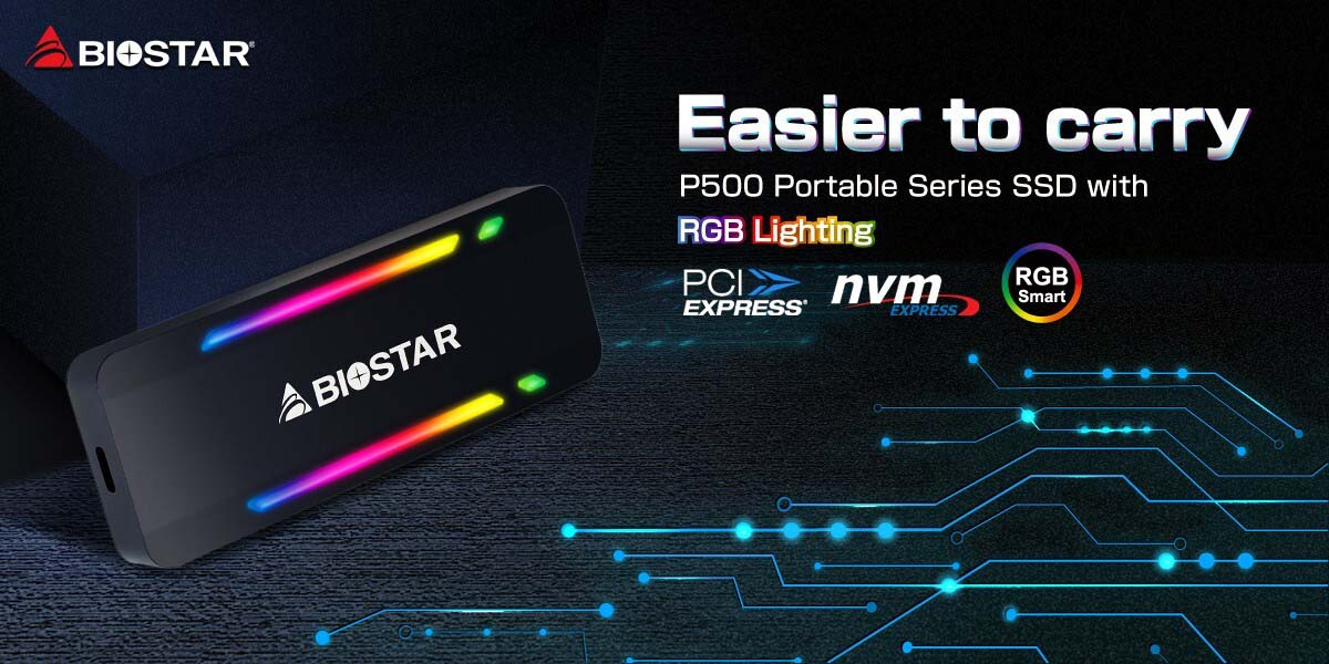 رونمایی از درایو SSD قابل حمل Biostar P500 در سه ظرفیت