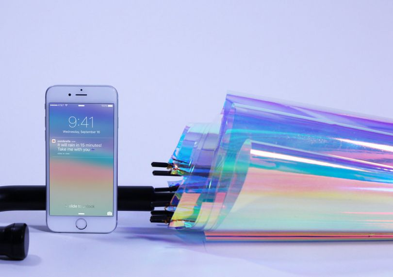 چتر هوشمند قابل اتصال به تلفن همراه ساخته شد
